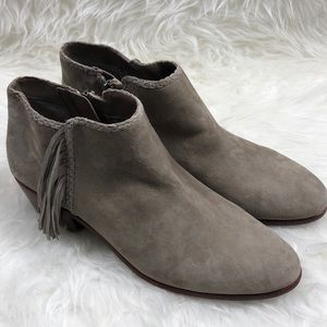 Sam Edelman Fringe Ankle Boots